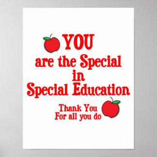 Aprecio de la educación especial posters