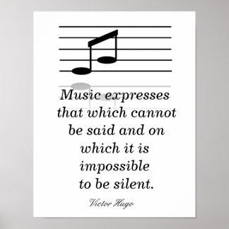 Aprecio de la música - impresión del arte póster