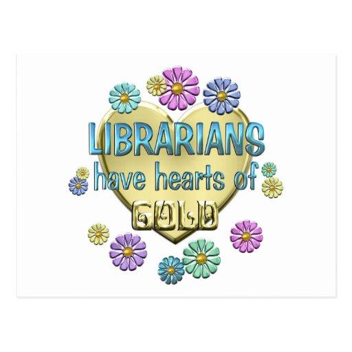 Aprecio del bibliotecario tarjetas postales