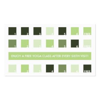 Aprecio del cliente de la YOGA (cuadrados de la Tarjetas De Visita
