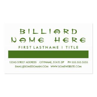 Aprecio del cliente del BILLAR (cuadrados de la Tarjetas De Visita