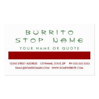 Aprecio del cliente del BURRITO (cuadrados de la M Tarjetas De Visita
