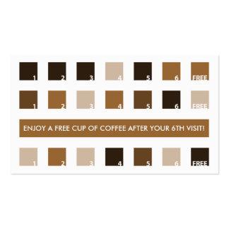 Aprecio del cliente del CAFÉ (cuadrados de la MOD) Tarjetas De Visita