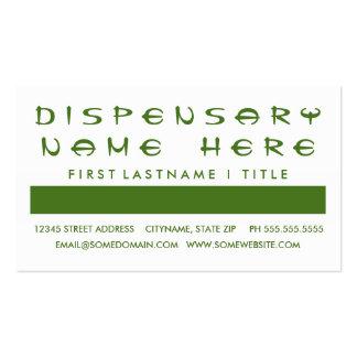 Aprecio del cliente del DISPENSARIO (cuadrados de Tarjetas De Visita