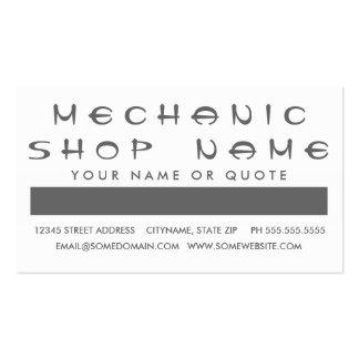 Aprecio del cliente del MECÁNICO (cuadrados de la  Tarjetas De Visita