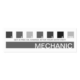 Aprecio del cliente del MECÁNICO (cuadrados de la Tarjetas De Visita Mini