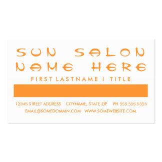 Aprecio del cliente del SALÓN del SOL (cuadrados d Tarjetas De Visita