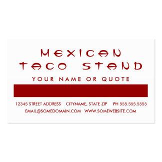 Aprecio del cliente del TACOS (cuadrados de la Tarjetas De Visita