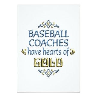 Aprecio del entrenador de béisbol invitacion personal