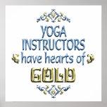 Aprecio del instructor de la yoga poster