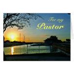 Aprecio del pastor de la puesta del sol de la tarjeta de felicitación