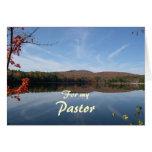 Aprecio del pastor del chaparrón tarjeta de felicitación