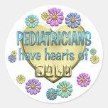 Aprecio del pediatra etiqueta redonda