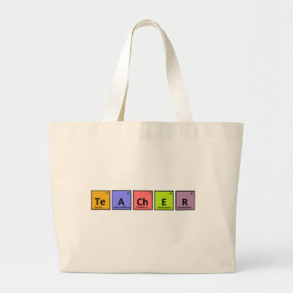 Aprecio del profesor de la tabla periódica bolsa lienzo