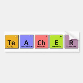 Aprecio del profesor de la tabla periódica pegatina para auto