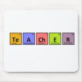 Aprecio del profesor de la tabla periódica tapete de raton