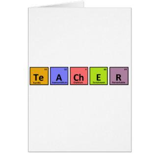 Aprecio del profesor de la tabla periódica tarjetas