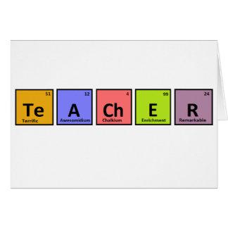 Aprecio del profesor de la tabla periódica felicitacion
