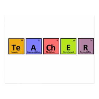 Aprecio del profesor de la tabla periódica postal