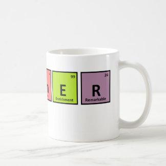 Aprecio del profesor de la tabla periódica taza de café