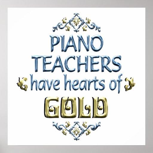 Aprecio del profesor de piano póster