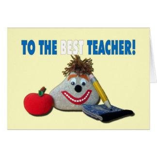 ¡Aprecio del profesor - usted ROCA! Tarjeta De Felicitación