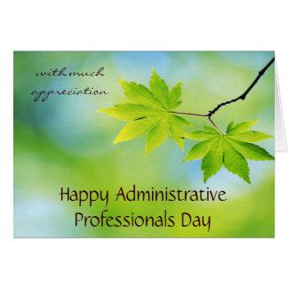 Aprecio para el día administrativo de los profesio tarjeta