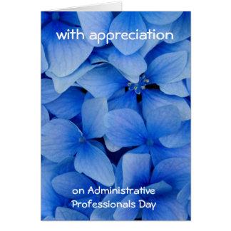 Aprecio para los profesionales administrativos felicitaciones