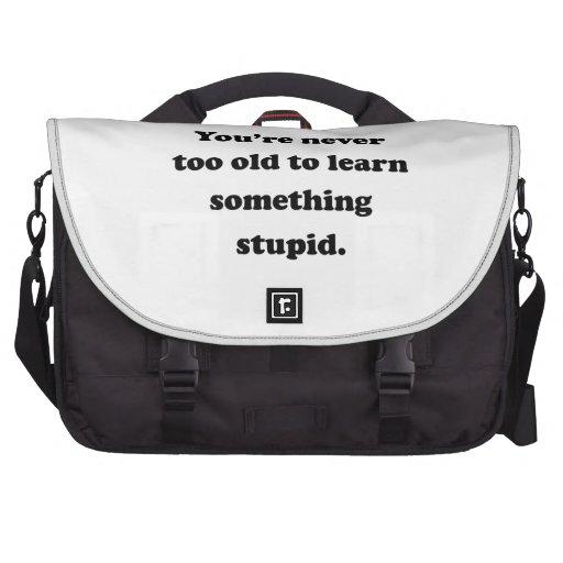 Aprenda algo estúpido bolsas para portatil