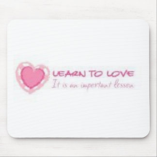 Aprenda amar <3 alfombrilla de ratón