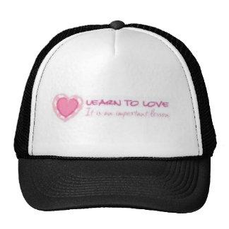 Aprenda amar <3 gorros bordados