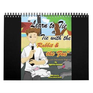 Aprenda atar un lazo con el conejo y el Fox calorí Calendario
