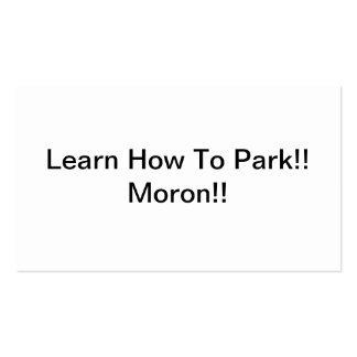 Aprenda cómo parquear al Imbécil Tarjetas De Visita