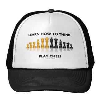 Aprenda cómo pensar el ajedrez del juego (el juego gorra