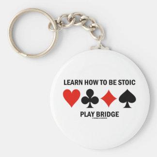 Aprenda cómo ser puente estoico del juego (los jue llavero personalizado