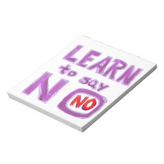 Aprenda decir no - el material del coche de la vid blocs