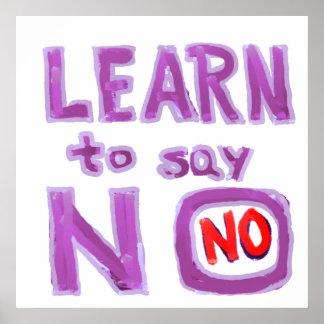 Aprenda decir no - organice su vida poster