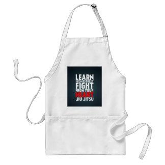 Aprenda del negro de Jiu Jitsu de la calle Delantal