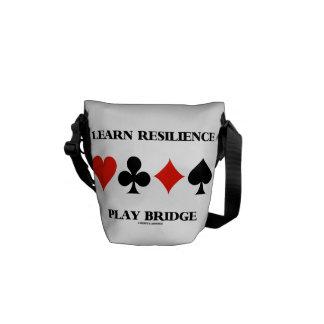 Aprenda el puente del juego de la resistencia bolsa messenger