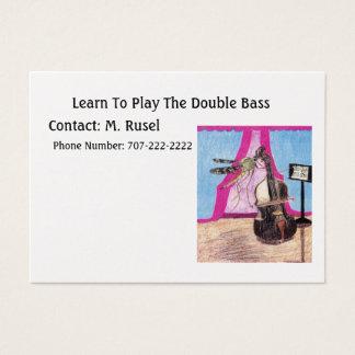 Aprenda jugar el bajo doble tarjeta de negocios