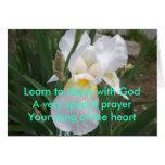 Aprenda - la parte con dios tarjetas