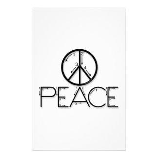 Aprenda la paz papelería personalizada