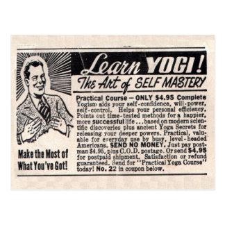 """""""Aprenda postal de la yogui"""""""