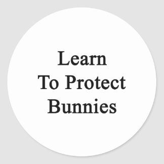 Aprenda proteger conejitos etiquetas redondas