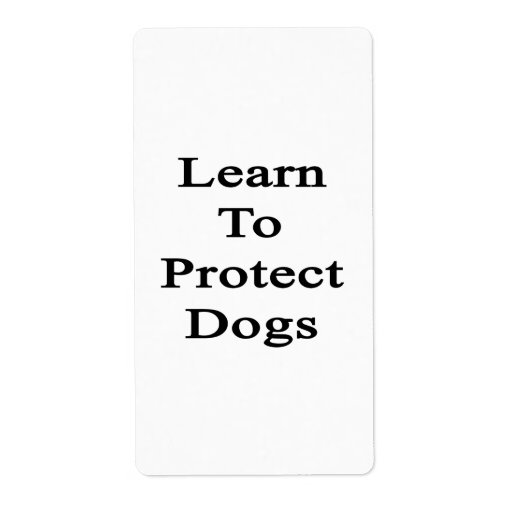Aprenda proteger perros etiqueta de envío