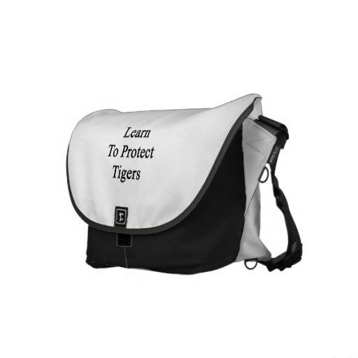 Aprenda proteger tigres bolsa de mensajería