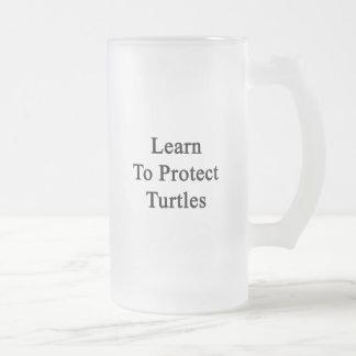Aprenda proteger tortugas taza
