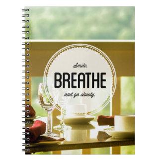 Aprenda relajar el cuaderno inspirado de la foto