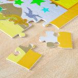 Aprenda su ABC con los dinosaurios A a alfabeto de Puzzle