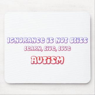 Aprenda, vivo, autismo del amor tapetes de raton